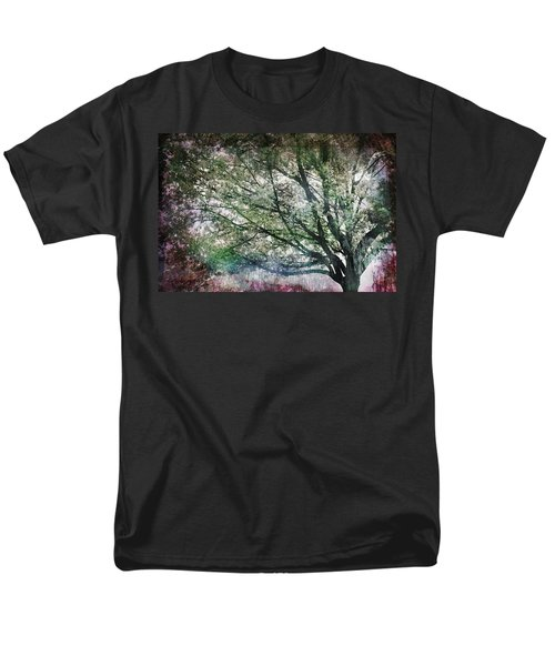 Men's T-Shirt  (Regular Fit) featuring the painting Spring Tree by Gray  Artus