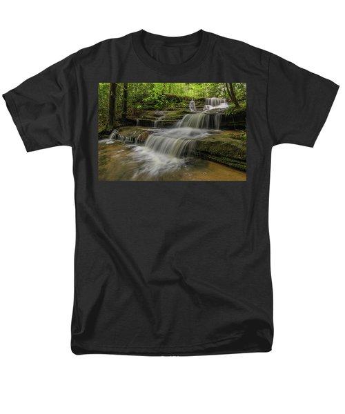 Spring Waterfall. Men's T-Shirt  (Regular Fit) by Ulrich Burkhalter