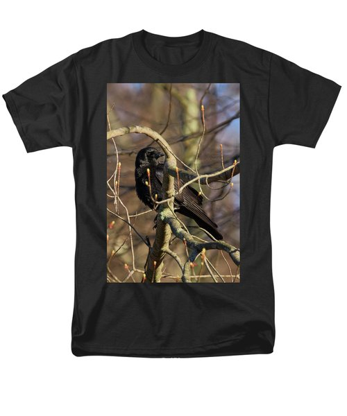 Men's T-Shirt  (Regular Fit) featuring the photograph Springtime Crow by Bill Wakeley