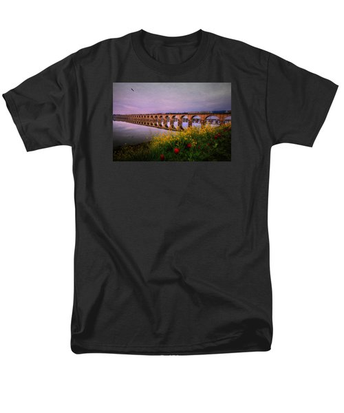Men's T-Shirt  (Regular Fit) featuring the photograph Springtime Reflections From Shipoke by Shelley Neff