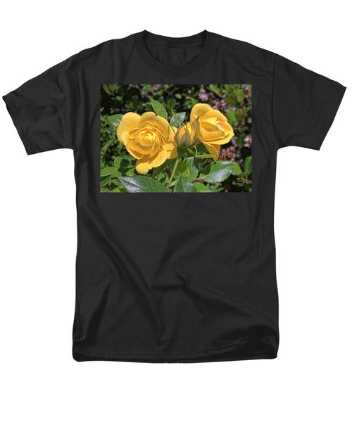 Men's T-Shirt  (Regular Fit) featuring the photograph St. Andrews Yellow Rose Family by Daniel Hebard
