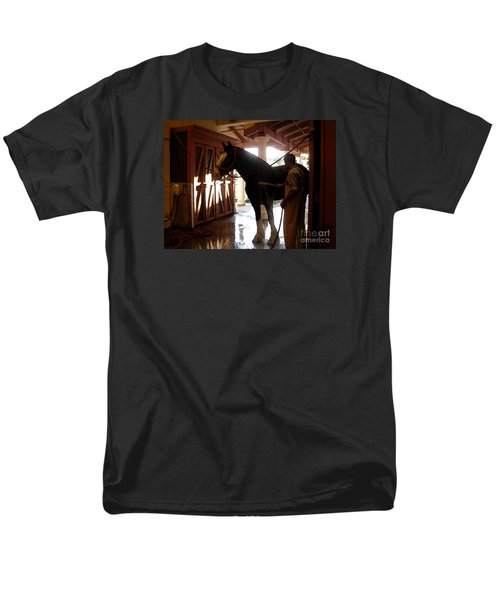 Stable Groom - 1 Men's T-Shirt  (Regular Fit) by Linda Shafer