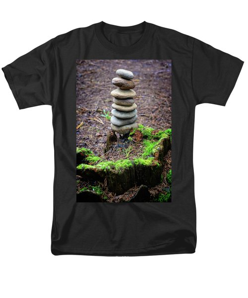 Men's T-Shirt  (Regular Fit) featuring the photograph Stacked Stones And Fairy Tales II by Marco Oliveira