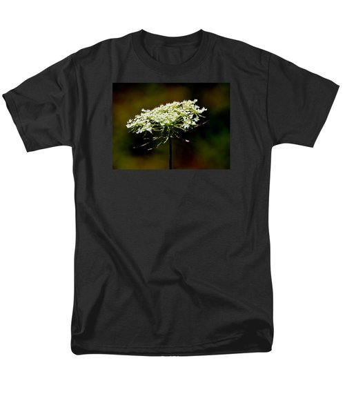 Men's T-Shirt  (Regular Fit) featuring the photograph Stamens Of Queen Annes Lace 2  by Lyle Crump