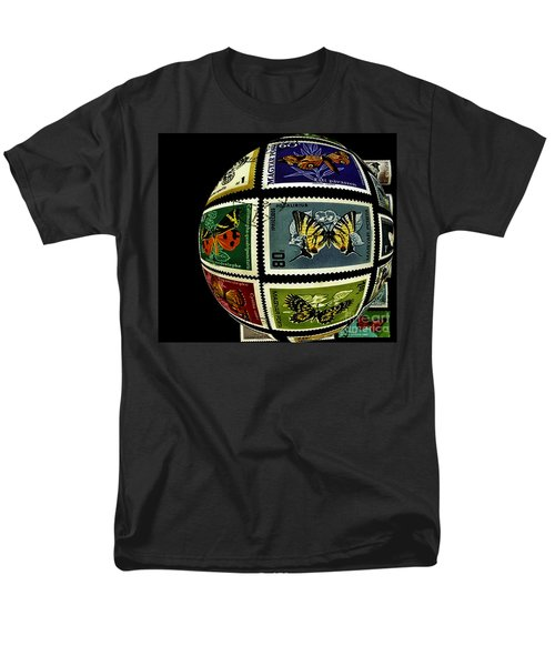 Stamp Collecting Around The World Men's T-Shirt  (Regular Fit) by Carol F Austin