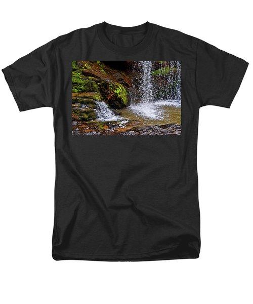 Standing In Motion - Brasstown Falls 011 Men's T-Shirt  (Regular Fit) by George Bostian