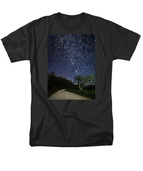 Men's T-Shirt  (Regular Fit) featuring the photograph Star Trail Over The Blue Ridge by Serge Skiba