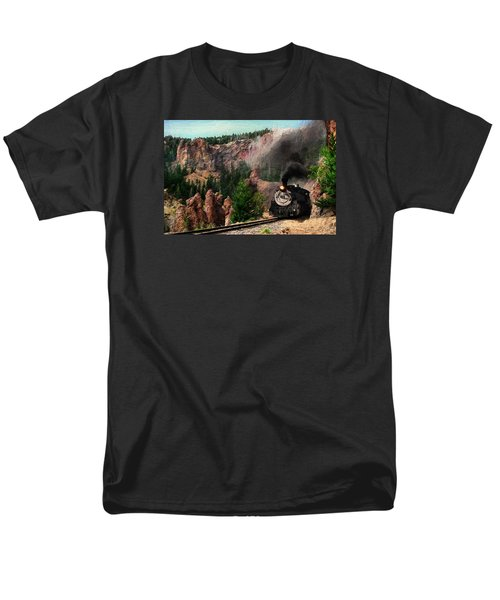 Men's T-Shirt  (Regular Fit) featuring the photograph Steam Through The Rock Formations by Ken Smith