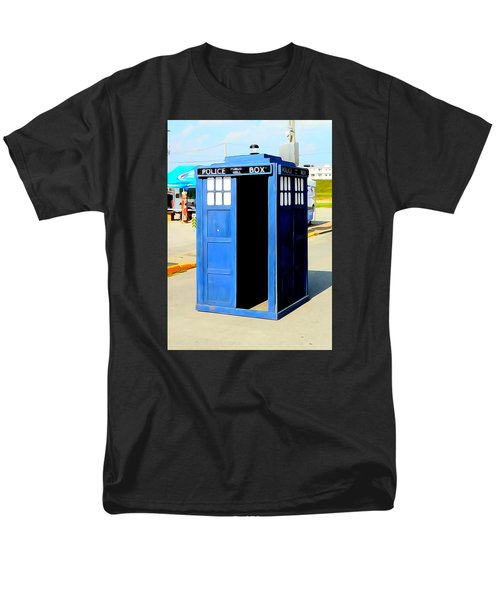 Steampunk Tardis Men's T-Shirt  (Regular Fit) by Justin Moore