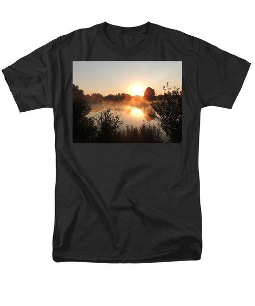 Steamy Morning Men's T-Shirt  (Regular Fit) by Teresa Schomig