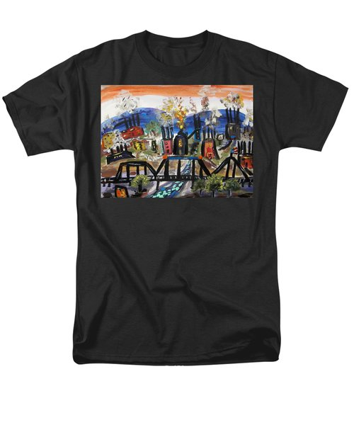 Men's T-Shirt  (Regular Fit) featuring the painting Steeltown U.s.a. by Mary Carol Williams
