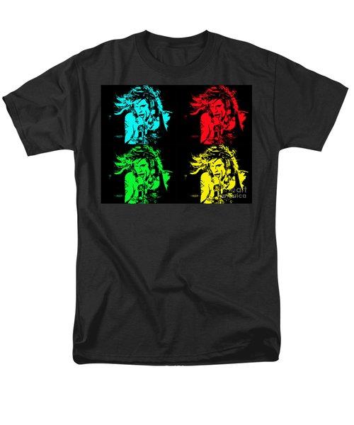 Steven Tyler Pop Art Men's T-Shirt  (Regular Fit) by Traci Cottingham