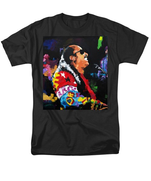 Men's T-Shirt  (Regular Fit) featuring the painting Stevie Wonder Live by Richard Day
