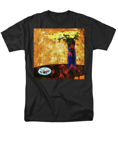 Men's T-Shirt  (Regular Fit) featuring the painting Still Life. Cherries For The Queen by Anastasija Kraineva