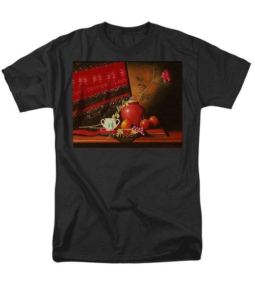 Still Life With Red Vase. Men's T-Shirt  (Regular Fit) by Gene Gregory
