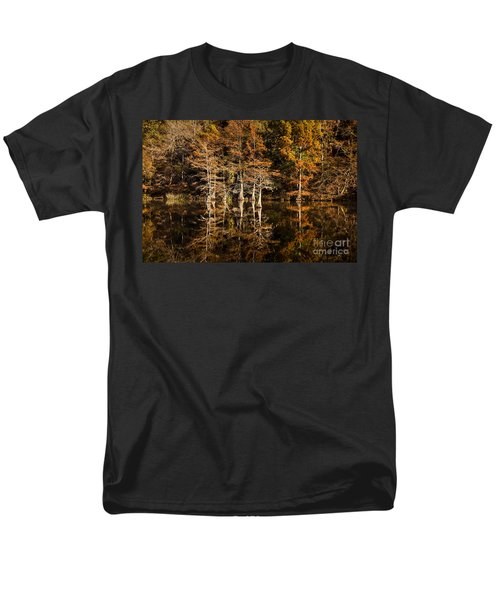 Men's T-Shirt  (Regular Fit) featuring the photograph Still Waters On Beaver's Bend by Tamyra Ayles