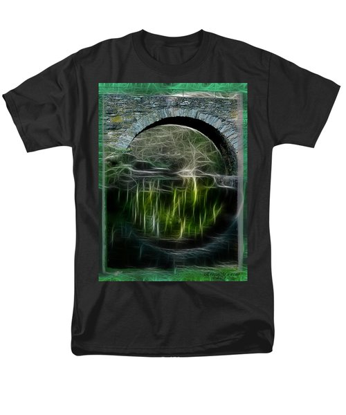 Men's T-Shirt  (Regular Fit) featuring the photograph Stone Arch Bridge - Ny by EricaMaxine  Price