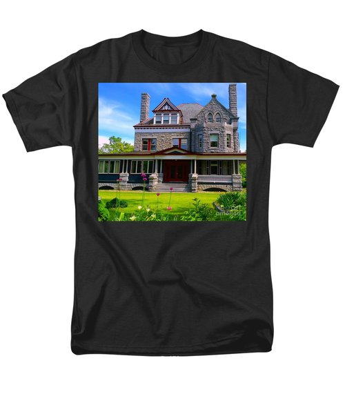 Men's T-Shirt  (Regular Fit) featuring the photograph Stone Mansion Garden by Becky Lupe