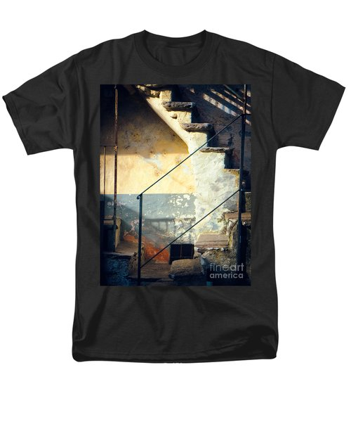 Men's T-Shirt  (Regular Fit) featuring the photograph Stone Steps Outside An Old House by Silvia Ganora
