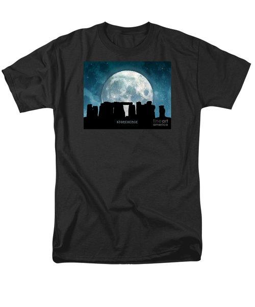 Men's T-Shirt  (Regular Fit) featuring the digital art Stonehenge by Phil Perkins