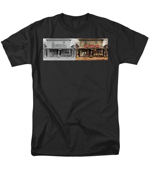 Store - Grocery - Mexicanita Cafe 1939 - Side By Side Men's T-Shirt  (Regular Fit) by Mike Savad