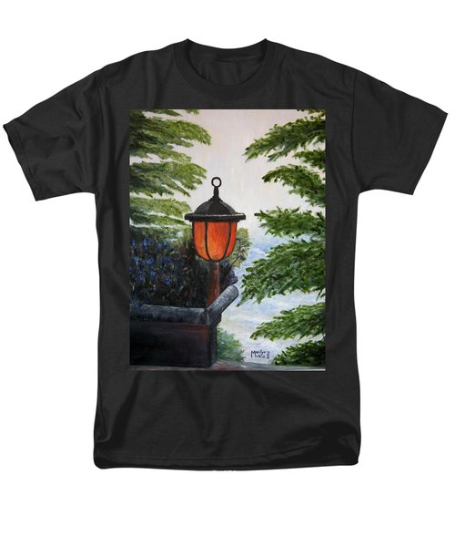 Men's T-Shirt  (Regular Fit) featuring the painting Storm On Lake Of The Woods by Marilyn  McNish