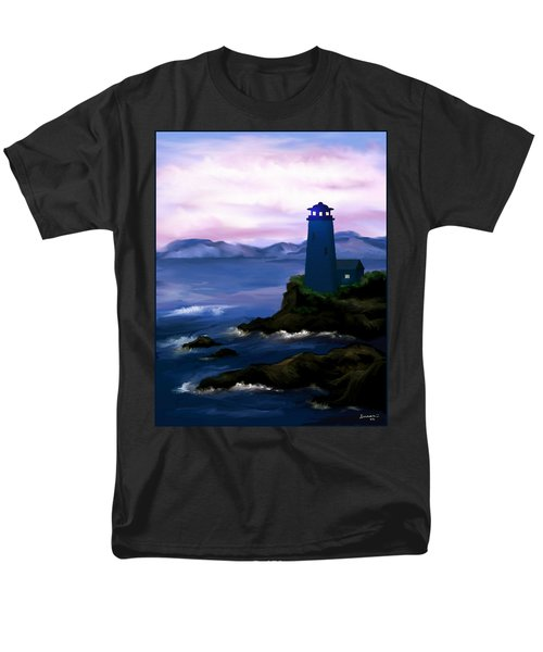 Men's T-Shirt  (Regular Fit) featuring the painting Stormy Blue Night by Susan Kinney