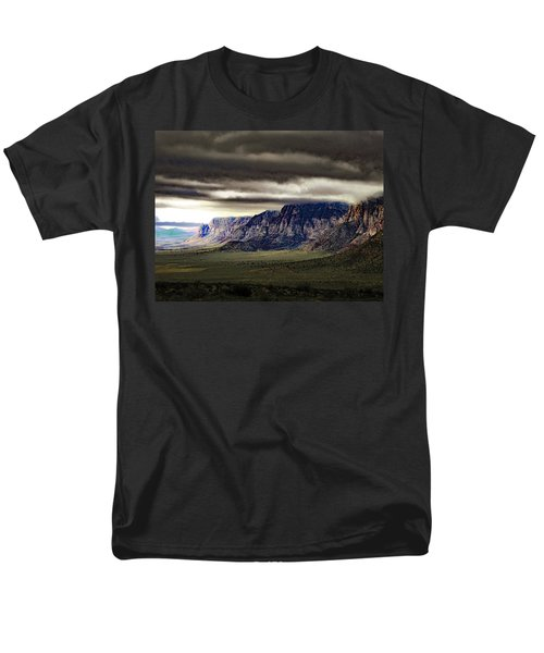 Stormy Morning In Red Rock Canyon Men's T-Shirt  (Regular Fit) by Alan Socolik