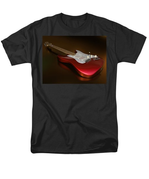 Stratocaster On A Golden Floor Men's T-Shirt  (Regular Fit) by James Barnes