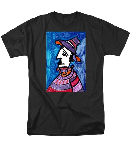 Men's T-Shirt  (Regular Fit) featuring the painting Street Peddler by Don Koester