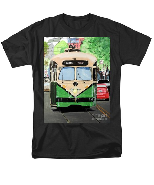 Men's T-Shirt  (Regular Fit) featuring the painting Streetcar Not Named Desire by Tom Riggs