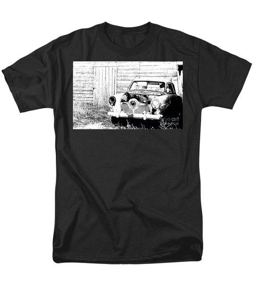 Studebaker Black And White Men's T-Shirt  (Regular Fit) by Renie Rutten