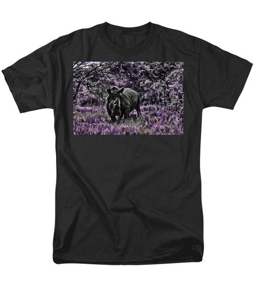 Styled Environment-the Modern Trendy Rhino Men's T-Shirt  (Regular Fit) by Douglas Barnard