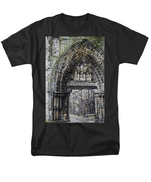 Men's T-Shirt  (Regular Fit) featuring the photograph Subtle Shades Of Stone Holyrood Edinburgh Scotland by Sally Ross
