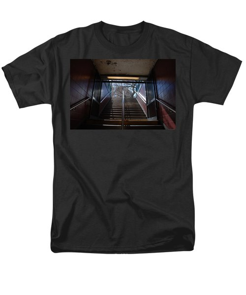 Men's T-Shirt  (Regular Fit) featuring the photograph Subway Stairs To Freedom by Rob Hans