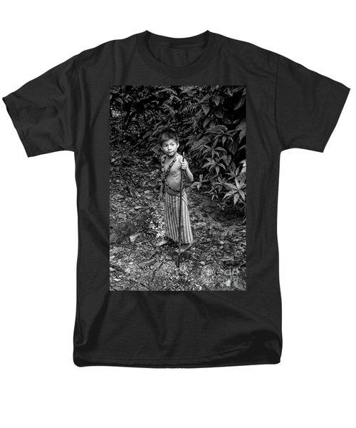Men's T-Shirt  (Regular Fit) featuring the photograph Sucua Kids 898 by Al Bourassa