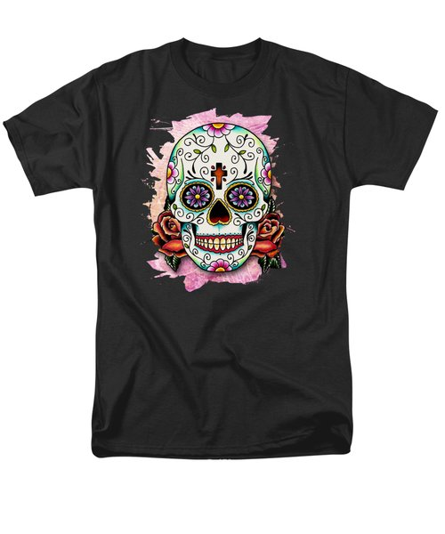 Sugar Skull Men's T-Shirt  (Regular Fit) by Maria Arango