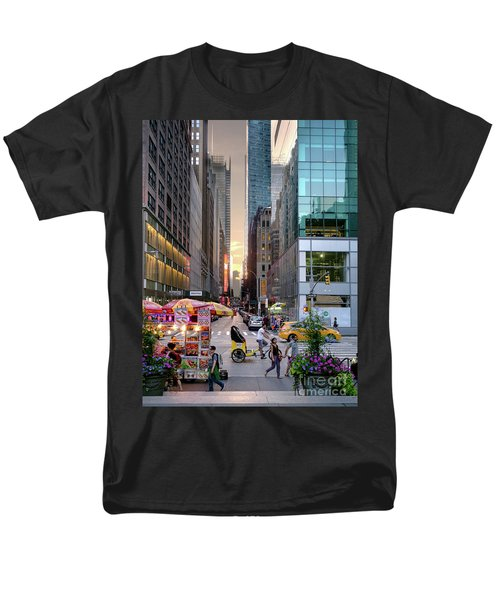 Men's T-Shirt  (Regular Fit) featuring the photograph Summer Evening, New York City  -17705-17711 by John Bald
