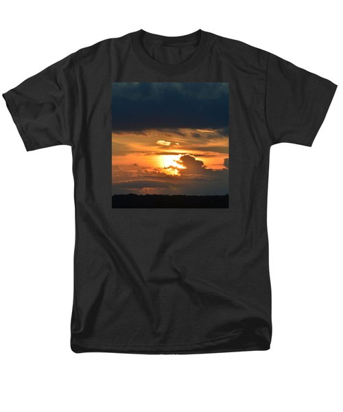 Men's T-Shirt  (Regular Fit) featuring the photograph Sun And Dark Clouds  by Lyle Crump
