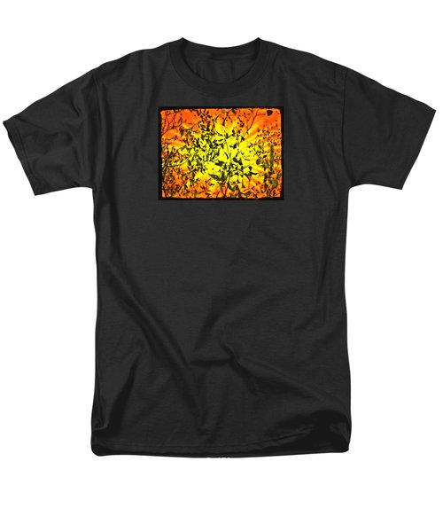 Sun Dappled Leaves Men's T-Shirt  (Regular Fit) by Robin Regan