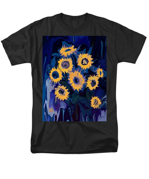 Men's T-Shirt  (Regular Fit) featuring the digital art Sunflower 1 by Rabi Khan