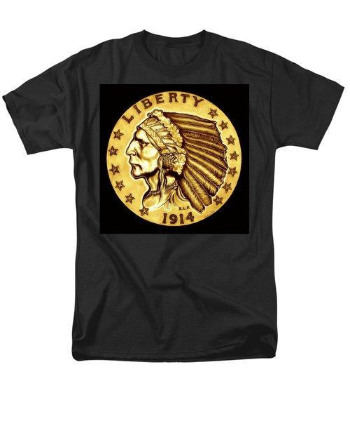 Sunflower Gold Quarter Eagle Men's T-Shirt  (Regular Fit) by Fred Larucci