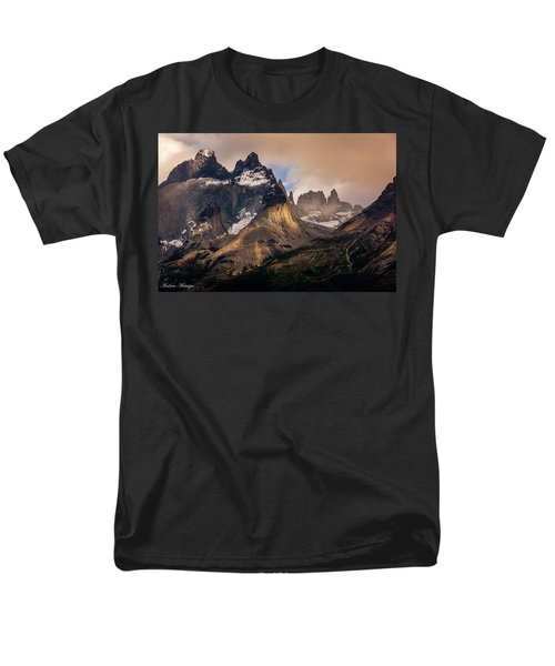 Men's T-Shirt  (Regular Fit) featuring the photograph Sunlight On The Mountain by Andrew Matwijec