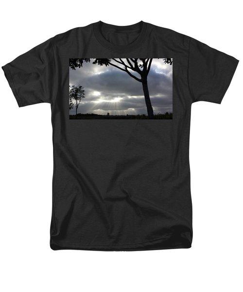 Sunlit Gray Clouds At Otay Ranch Men's T-Shirt  (Regular Fit) by Karen J Shine