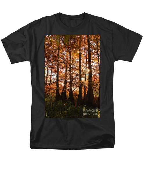 Men's T-Shirt  (Regular Fit) featuring the photograph Sunlit Trees At Lake Murray by Tamyra Ayles