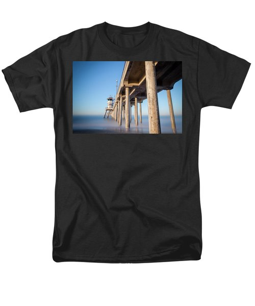 Sunrise At Huntington Beach Pier Men's T-Shirt  (Regular Fit) by Sean Foster