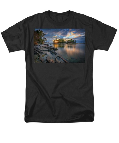 Men's T-Shirt  (Regular Fit) featuring the photograph Sunrise At Wolfe's Neck Woods by Rick Berk
