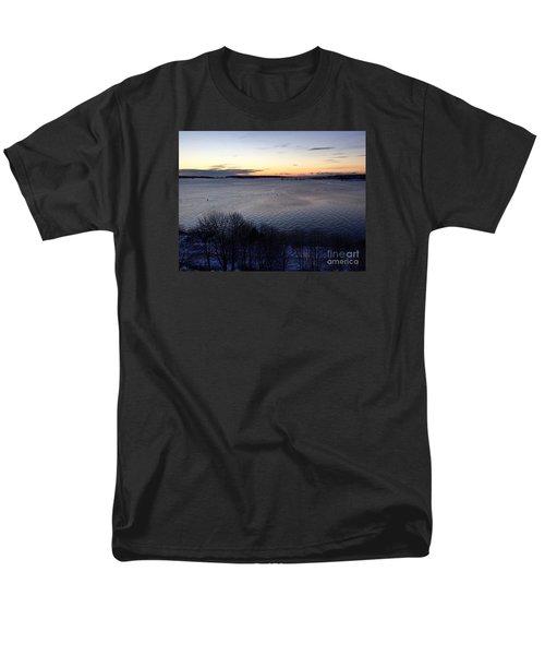 Sunrise Casco Bay January 21, 2016  Men's T-Shirt  (Regular Fit)