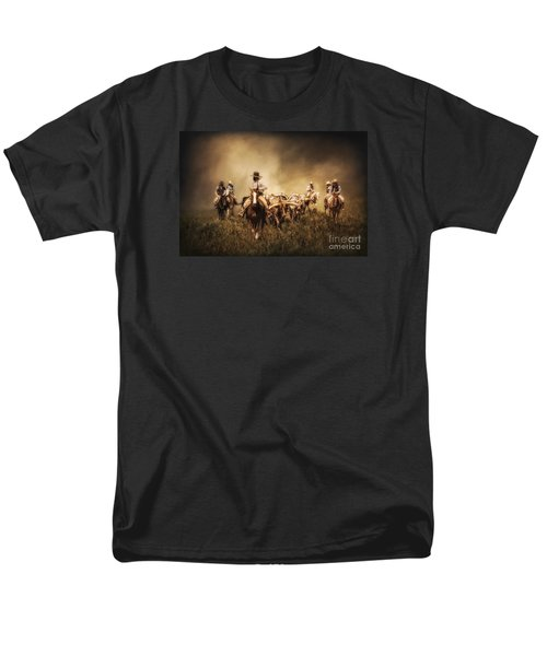 Sunrise Cattle Drive Men's T-Shirt  (Regular Fit) by Priscilla Burgers