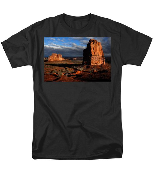 Men's T-Shirt  (Regular Fit) featuring the photograph Sunrise La Sal Mountains by Harry Spitz